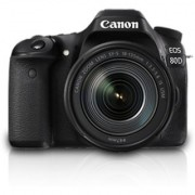 Canon 80D DSLR Camera Body with Single Lens: 18-135 IS USM (16 GB SD Card)(Black)
