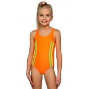 Klárika lányka fürdőruha neonos 140