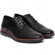 Pantofi barbati Virgilio cu aspect texturat, Negru 41