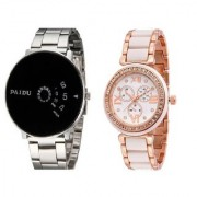 New paidu Black And Rose Golden Women Watch New Look And Latest Designing Combo / Cupple Watch