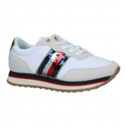 Tommy Hilfiger Witte/Ecru Sneakers Tommy Hilfiger