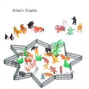 Life Boost Plastic Forest Jungle Animals Forest Animals Forest Animals Toy Assorted with Fences, Grass and Tree...