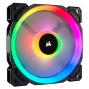 Вентилатор за кутия Corsair LL Series LL120 RGB, 120mm Dual Light Loop,16 individually addressable RGB LED PWM Fan, Single Pack, Black