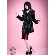manteau pour femmes printemps-automne HEARTS AND ROSES - Floral Broderie Duster - 0721