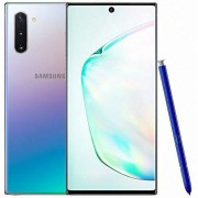 Samsung Galaxy Note 10 N970FD 8GB/256GB Dual Sim with Tempered Glass Screen Protector and Folding Case (Black) - Aura Glow (HS code: 8471 3010)