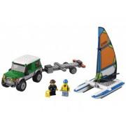 LEGO® City Great Vehicles Masina 4x4 si Catamaranul - L60149