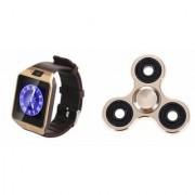 Zemini DZ09 Smart Watch and Fidget Spinner for LG OPTIMUS 3D(DZ09 Smart Watch With 4G Sim Card Memory Card| Fidget Spinner)