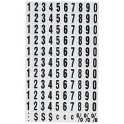 Quartet Magnetic Number Set 120 Numbers Black (MN)