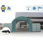 Elülső fal 8m széles konténer fedéshez / 720g/m2 PVC / Zöld