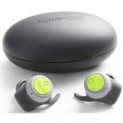Boompods True Wireless sportovní špuntová sluchátka Boompods Boombuds TWSGRN, šedá, zelená