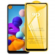 Samsung Voor Galaxy A21 9D Full Glue Full Screen Tempered Glass Film