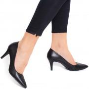 Pantofi dama Alisse stiletto cu varf ascutit, Negru 39