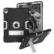 Shock Proof Hybrid TPU + PC Cover with Kickstand for iPad Pro 11-inch (2018) - Black / Silver