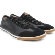Clarks Mego Race Men Genuine Leather Sneakers For Men(Black)