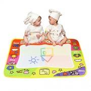 Usstore Baby Kid Child Aqua Doodle Children Drawing Toys Mat Magic Pen Educational Gift 1 Mat+ 2 Wate
