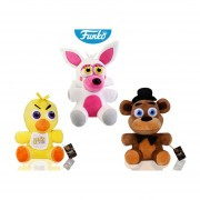 Set 3 peluches five nights at freddys freddy chicka mangle Funko pop videojuego