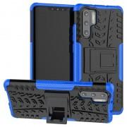 Huawei P30 Pro Anti-Slip Hybrid Case with Kickstand - Blue / Black