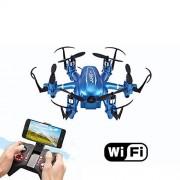 LINGYUN Mini Drone de Control Remoto, cámara WiFi FPV HD, avión de Seis Ejes aéreo, 10 Minutos de Tiempo de Vuelo, despegue/Aterrizaje/Regreso con un botón, Control de Aplicaciones móviles
