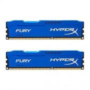 Kingston HyperX FURY Memoria para PC, DDR3, CL10 DIMM, Azul, 8GB Kit (2x4GB)