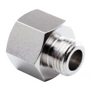 "Niplu mufa reductie cu filet interior-exterior Mecafer 1/4"" -> 3/8"""
