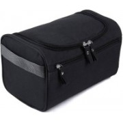Expeditious Multifunction Zipper Toiletry Bags Travel Organizer Wash Storage Bags Makeup Bags Cosmetic Case -Black Color Travel Toiletry Kit(Black)