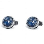 Butoni TF Est. 1968 Lapis lazuli 925 Silver Leaves Made in Switzerland