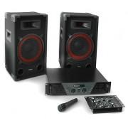 Ibiza DJ 300 Set audio professionale 2.1 mixer 1micro