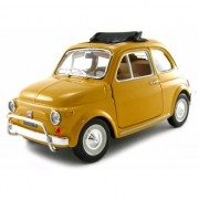 Bburago Modelauto Fiat 500 L 1968 geel 1:24