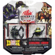 Bakugan Gundalian Invaders New Super Assault 2 Pack (Black) Darkus CLAWSAURUS and COREDEM w/DNA CODE