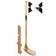 Floorball grippes egyedi senior űtő Eurostic Force One Orange 95/106 cm nyél és jobbra ívelő fej