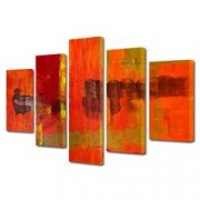 Tablou Canvas Premium Abstract Multicolor Culori Topite In Foc Decoratiuni Moderne pentru Casa 120 x 225 cm
