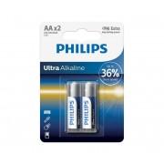 Philips LR6E2B/10 - 2 buc Baterie alcalina AA ULTRA ALKALINE 1,5V