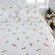 Lenjerie de pat pene tropicale multicolore