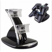 Generic LED Light Dual USB Powered Charging Dock Stand Holder Support Charger For PlayStation 3 PS3 Controller Game Accessories