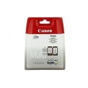 Canon Cartucho de tinta Original CANON PG-545 CI 546 Negro/CMYK para PIXMA iP2850, MG2455, MG2550, MG2555, MG2950, MG3050, MG3051, MG3052, MG3053, MX495