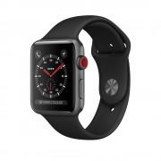 Apple Watch Series 3 Cellular 42mm Aluminum Case with Sport Band MQK22 Space Grey (Спортивный ремешок цвета черный)