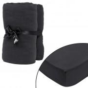 vidaXL 2 kom Antracit Plahte za Madrac 90x190-100x200cm Pamučni Žersej