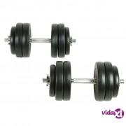 vidaXL Tegovi za vježbanje 30 kg