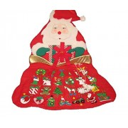 Icebenice Fabric Santa Sack Christmas Advent Calendar