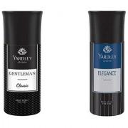 Yardley London Gentleman Elegance Body Spray - For Men pack of 2 150 ml each