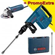 BOSCH GSH 11 E Ciocan demolator SDS-max 1500 W, 16.8J + GWS 850 CE Polizor unghiular cu regulator