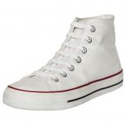 Shoeps 14x Shoeps elastische veters wit/parel voor kinderen/volwassenen