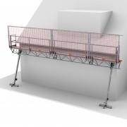 Altrex Modulare Dreiecksbühne Absturzsicherung mit Fangnetzen für geneigte Dächer Euro 4-6 MTB 10m lang