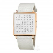 Biegert & Funk Qlocktwo Watch Rose White W35 - Engels