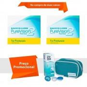 Purevision 2 Multifocal para Presbiopia com Kit Renu Sensitive