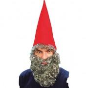 Geen Rode verkleedmuts met grijze baard