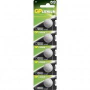 Blister 5 Batterie Litio a Bottone CR2032