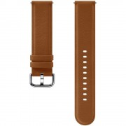 Curea piele Samsung Leather Strap pentru Galaxy Watch Active 2 / Galaxy Watch (42mm) / Gear Sport Brown