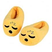 Geen Kinderen slapende smiley pantoffels