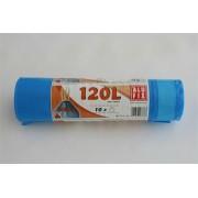 Szemeteszsák, zárószalagos, 120 l, 10 db, ALUFIX, kék (KHT177)